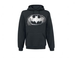 Batman Mono Distressed Logo Hoody
